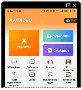 Viva video редактор
